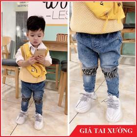 [ Nhập mã : SD4A2Y - Giảm 10k ] Quần jean bé trai - quần dài bé trai, quần bò bé trai chất mềm, co giản nhẹ 8 - 20kg - Jean dài