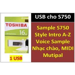 USB mini Sample đàn organ yamaha PSR - S750: Style sample, nhạc chào, bộ songbook và tất cả dữ liệu khác phục vụ làm SHOW