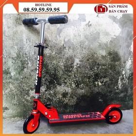 XE TRƯỢT SCOOTER TẶNG KÈM BẢO HỘ - Xe scooter màu đỏ