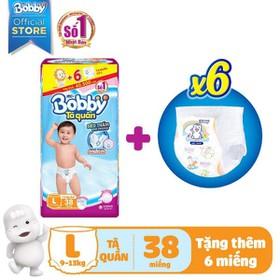 [CẦN THƠ] TÃ QUẦN BOBBY TẶNG 6 MIẾNG S46/M42/L38/XL34/XXL30 - Bobby L38