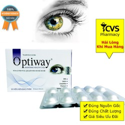 Combo 2 Hộp Viên uống Optiway bổ mắt tăng cường thị lực và phục hồi tổn thương mắt
