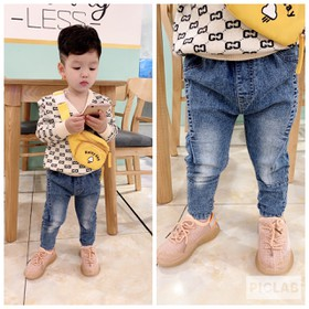 [ Nhập mã : SD4A2Y - Giảm 10k ] Quần jean bé trai, Quần jean bé trai đẹp - quần dài bé trai, size 7-20kg - jeantron
