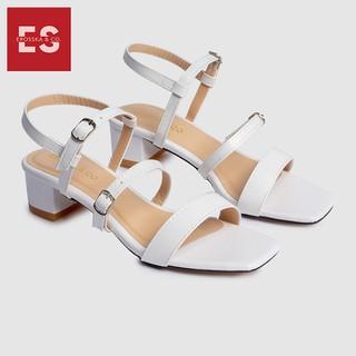 Gia y sandal cao gót Erosska thơ i trang mũi vuông phô i dây quai ma nh cao 3cm EB018 - EB018 thumbnail