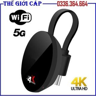 Thiết bị phát tín hiệu HDMI không dây chromcast 3 kết nối 5G truyền hình ảnh và video 4K - Chromecast 3 5G thumbnail