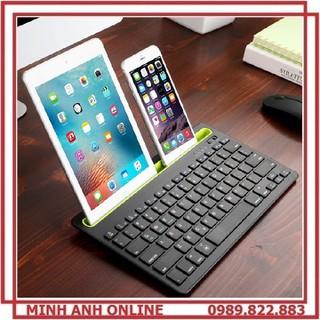 Bàn phím bluetooth dùng cho điện thoại, máy tính bảng, PC có khe cắm điện thoại, máy tính bảng PK 908 - PK 908 thumbnail