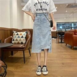 Chân váy jean nhiều nút nhiều kiêu mặc Mã: VN919