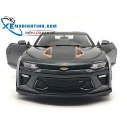 Xe Mô Hình Chevrolet Fifty Camaro 1:18 Maisto Xám Sọc Cam