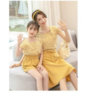 Mẹ & Bé - Set Áo Caro + Chân Váy Mẹ và Bé TP20 - TP20 thumbnail