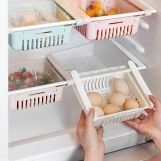 Khay ngăn kéo tủ lạnh thông minh để đồ thức ăn thực phẩm kệ nhựa đa năng treo gấp gọn co giãn tiện lợi - 3531 thumbnail