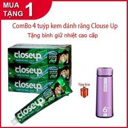 [ hỗ trợ 15k pvc ] Combo 4 Tuýp Kem đánh răng Closeup Thái Lan tặng kèm bình giữ nhiệt cao cấp