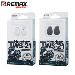 Tai nghe Bluetooth True Wireless Remax TWS-21 kèm do  sạc [ĐƯỢC KIỂM HÀNG]