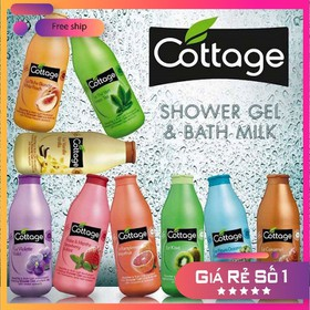 Sữa tắm dưỡng ẩm mềm da Cottage 750ml - SỮA TẮM COTTAGE 750 ml
