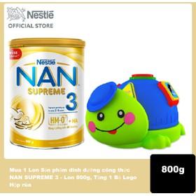 Mua 1 Lon Sản phẩm dinh dưỡng công thức NAN SUPREME 3 - Lon 800g, Tặng 1 bộ Lego Hộp Rùa - NAN030413