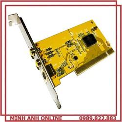 Card Chuyển Đổi PCI To SVHS AV S-Video xem và lưu lại các tín hiệu đầu vào AV, Svideo