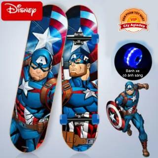 Siêu ván trượt trẻ em cao cấp USA bánh xe ánh sáng Dispney American Captain - Đội trưởng Mỹ - Seagd813 thumbnail