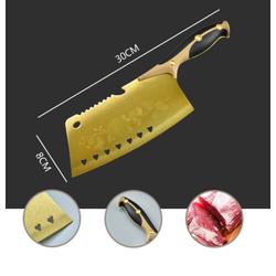 [Miễn phí vận chuyển] Dao nhà bếp kích thước 30x8 vàng Hoa hồng