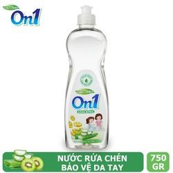 Nước rửa chén On1 hương kiwi và aloe vera 750g - Sạch bóng vết dầu mỡ