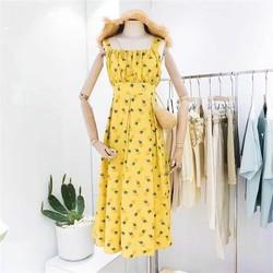 Đầm xòe vải lụa hoa 40-60kg