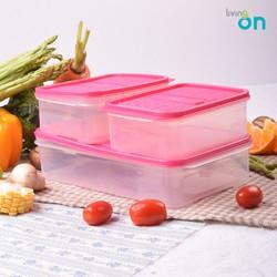 Combo 3 hộp nhựa đựng cơm Hàn Quốc set 02- hộp đựng đồ ăn- hộp chia thực phẩm