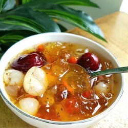 Combo 4 set Chè dưỡng nhan 500g đủ 12 vị tặng kèm 4 phần táo trái
