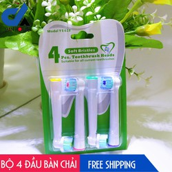 Bộ 4 Đầu Bàn Chải đánh răng điện cho mọi loại máy Oral–B – Thế hệ mới Next Gen – Chăm sóc răng miệng toàn diện-YE628