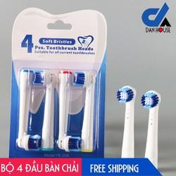 Bộ 4 Đầu Bàn Chải đánh răng điện cho mọi loại máy Oral–B – Chăm sóc răng miệng toàn diện SB-17A new