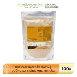 Bột Cám Gạo Đắp Mặt Nạ Dưỡng Da Trắng Mịn, Giảm Nám MILAGANICS 90g-100g-200g