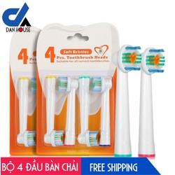 Bộ 4 Đầu Bàn Chải đánh răng điện cho mọi loại máy Oral–B – Thế hệ mới Next Gen – Chăm sóc răng miệng toàn diện - YE623