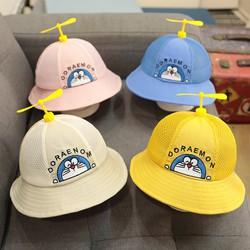 Mũ nón vành tròn hình chú doremon có chong chóng cho bé từ 1-3 tuổi