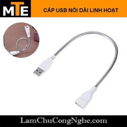 Dây USB nối dài uốn cong linh hoạt - cấp nguồn, sạc cổng USB tiện lợi