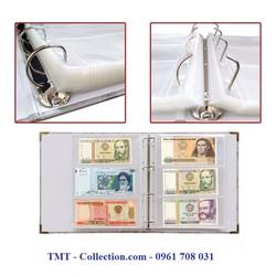 Bìa Album tiền quốc tế Kích thước 30.5x31.5x6cm, màu trắng chủ đạo dùng để bảo quản các loại tem, tiền giấy sưu tầm - TMT Collection - SP000848
