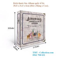 Bìa Album tiền quốc tế dùng để bảo quản các loại tem, tiền giấy sưu tầm - TMT colletion - SP000848
