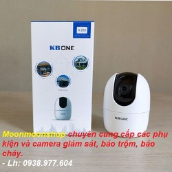 CAMERA GIÁM SÁT, CAMERA IP WIFI 360 ĐỘ KB ONE, KN-H21PW