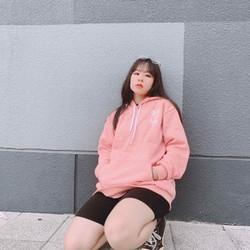 áo hoodie nữ Bisago nỉ ngoại in chữ Swe Love You dễ thương - giặt không bay màu