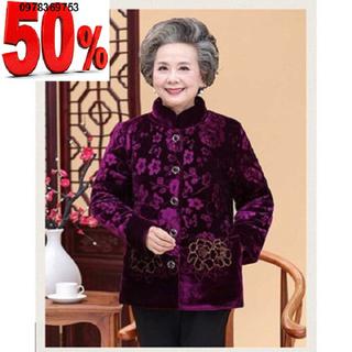 Áo Ấm Cho Người Cao Tuổi Lót Lông Vải Nhung Cao Cấp - 8765434234354657vx4 thumbnail