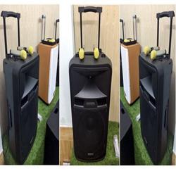 Loa vali kéo di động Bluetooth Karaoke TEMEISHENG SL15_05 + KÈM 02 Micro không dây kim loại