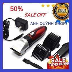 [Tặng Lược Tony Cao Cấp]Tông đơ cắt tóc chuyên nghiệp pin sạc lưỡi kép Kemei Km-707Z