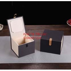 Hộp quà gỗ lót mút để đựng quả cầu đồ phong thủy sang trọng