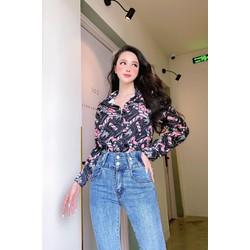 quần jean dài nữ BIG SIZE lưng siêu cao, co dãn mạnh, lưng 2 nút 3330
