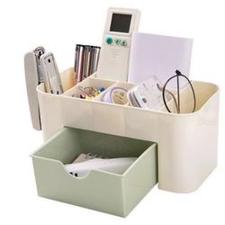 [Miễn phí vận chuyển] Combo 2 Hộp để bàn đa năng đựng diều khiển tivi máy lạnh và nhiều vật dụng khác trong nhà