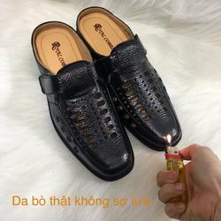Giày Sục Da Nam G134