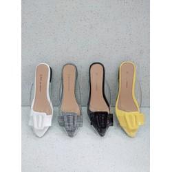 Giày sục nữ nơ vuông 07