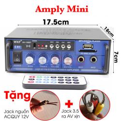 Ampli mini âm ly ô tô WXF AV-136BT 12V-220V