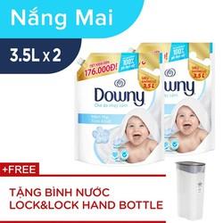 [Tặng Bình Nước LocknLock Hand Bottle 99K] Combo 2 Nước Xả Vải Downy Mềm Mại Tinh Khiết 3.5L/Túi