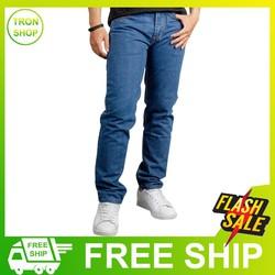 Quần jean nam vải đẹp form chuẩn không phai màu ĐƯỢC KIỂM HÀNG TS62 Tronshop