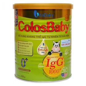 [NHẬP MÃ SD22N8 GIẢM CÒN 370K]Sữa Non Colosbaby 1000 IgG 0+ 1+ 2+ 800g (date 6/2022)+Sữa non Vitadairy colosbaby GOLD IQ Số 0-1_ 2[date T3.2022] - colosbaby 800g