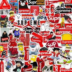Sticker SUP-REME nhựa PVC không thấm nước, dán nón bảo hiểm, laptop, điện thoại, Vali, xe, Cực COOL #68