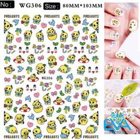Miếng Dán Móng Tay 3D Nail Sticker Tráng Trí Hoạ Tiết Hoạt Hình Funassyi WG306 - 0010002733