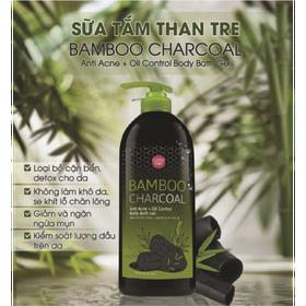 [ COMBO HÈ SALE HẾT Ý ] 01 Chai 500ml Sữa Tắm Than Tre Cathy Doll Bamboo trị mụn lưng Thái Lan + 01 Chà lưng 2 mặt Silicon (Date: 24 tháng) - 1 ST + 1 CHÀ LƯNG