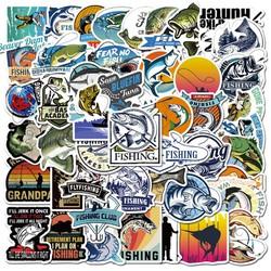 Sticker NGHỆ THUẬT CÂU CÁ nhựa PVC không thấm nước, dán nón bảo hiểm, laptop, điện thoại, Vali, xe, Cực COOL #70